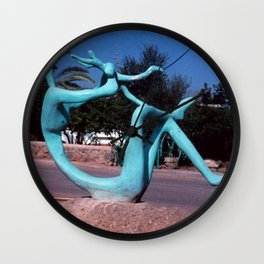 Mother & child by Shimon Drory Wall Clock