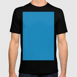 Cyan cornflower blue T-shirt