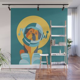 One Giant Leap for All Muttkind Wall Mural