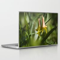 trout Laptop & iPad Skins featuring Trout Lily Flowers by Christina Rollo