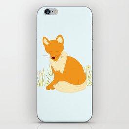 Foxy - Modern, Cute, Quirky, Woodland Creature, Fox Illustration Print iPhone Skin
