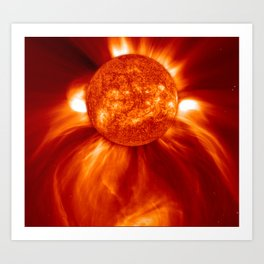 Coronal Mass Ejection (CME) Art Print