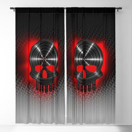 Vinyl Skull RED / The end of tunes Blackout Curtain