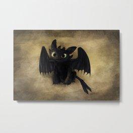 Baby Toothless Metal Print