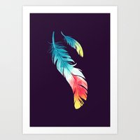feather Art Prints featuring Feather by Freeminds