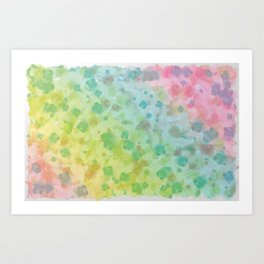 Colorful watercolor painting Art Print