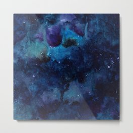 Space watercolor Metal Print