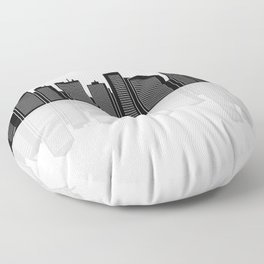 city skyline Floor Pillow
