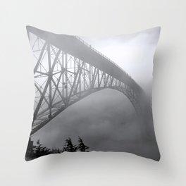 Foggy Deception Pass, Washington Throw Pillow