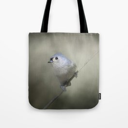Little Tufted Titmouse Tote Bag
