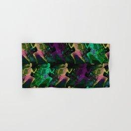 Watercolor women runner pattern on Dark Background Hand & Bath Towel