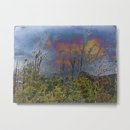 Winters Approach; Spring Stays Imbeded Metal Print