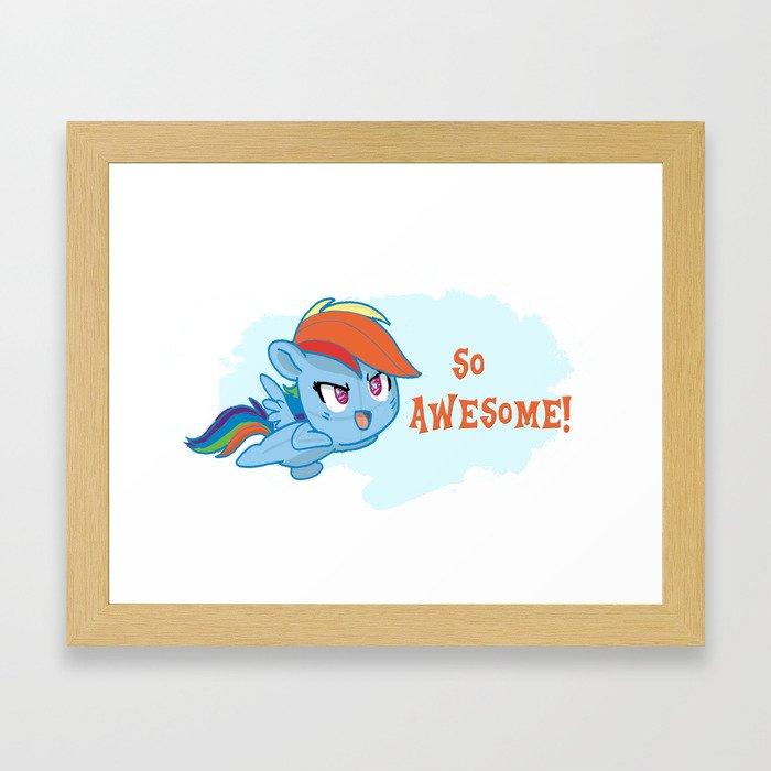 Rainbowdash cutie  Framed Art Print