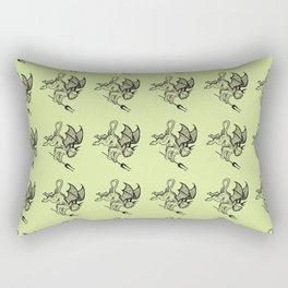 Ancient Imp Mythical Mythology Color Pattern Rectangular Pillow