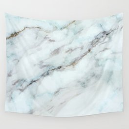 White and gray faux marble Wall Tapestry