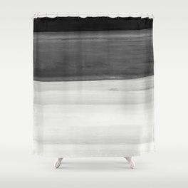 Touching Black Gray White Watercolor Abstract #2 #painting #decor #art #society6 Shower Curtain