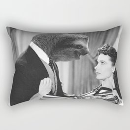 Sloth with Rossella O'Hara Rectangular Pillow