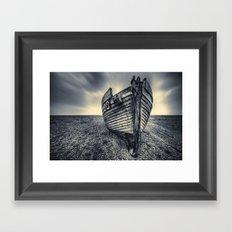 Broken Boat Framed Art Print