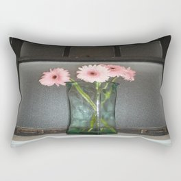 pink daisies ~ flowers on vintage sill Rectangular Pillow