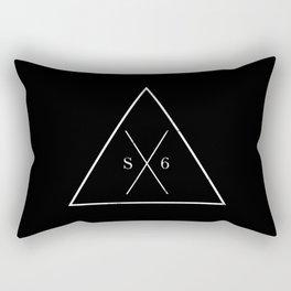 The Society Six (White Graphic) Rectangular Pillow