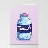 tequila Stationery Cards featuring Tequila by - OP -