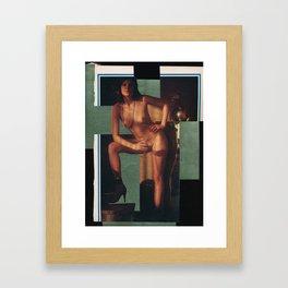 Overlapping deconstruction Framed Art Print