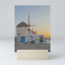 Mykonos Windmills by Pupina Mini Art Print