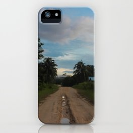 Beauty of a Mud Road iPhone Case
