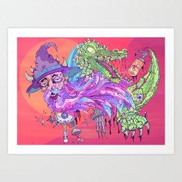 Wi$ard Gator Art Print