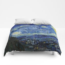 Starry Night by Vincent van Gogh Comforters