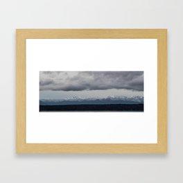 Olympic Mountains, Hansville, WA Framed Art Print