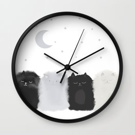 Sleep like Cats Wall Clock