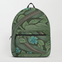 William Morris Art Nouveau Forget Me Not Floral Backpack