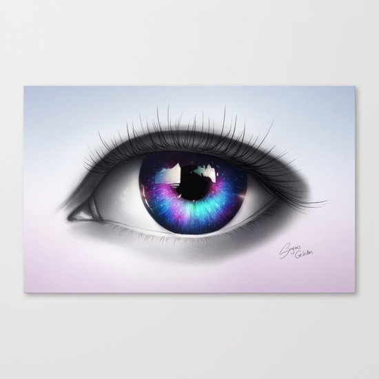 """A whole new World in your Eyes"" Canvas Print"