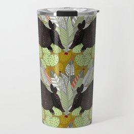 native armadillos gold Travel Mug