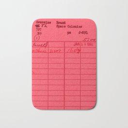 Library Card 797 Red Bath Mat