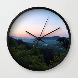 Clouded Mountain Wall Clock