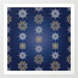 Elegant Christmas (Blue) Art Print