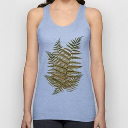 Among the ferns in the forest (military green) Unisex Tank Top