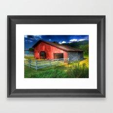Barn in Valle Crucis, NC Framed Art Print