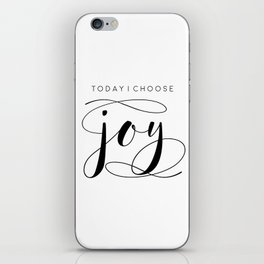 Today I Choose Joy wood sign, farmhouse decor, rustic, vintage, Bible verse, home and living iPhone Skin