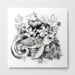 Travel – tattoo for a friend Metal Print