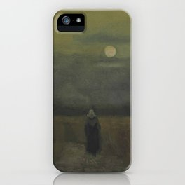 Vincent van Gogh - The Old Tower at Dusk iPhone Case