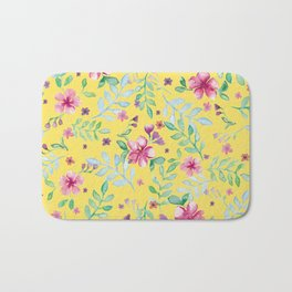 Yellow spring Bath Mat
