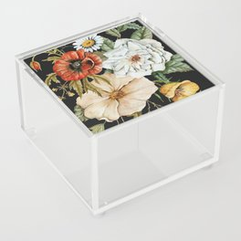 Wildflower Bouquet on Charcoal Acrylic Box