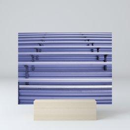 Bleachers In Silver Blue Mini Art Print