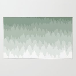 Green Ombré Forest Rug