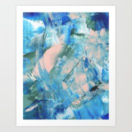 Paint Strokes Art Print