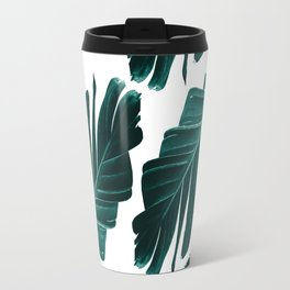 Tropical Banana Leaves Dream #1 #foliage #decor #art #society6 Travel Mug