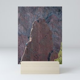 Rock Climbers in the Garden of the Gods Mini Art Print